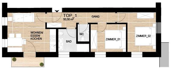 VILLA BLAU - moderne Apartments im Zentrum von SCHRUNS